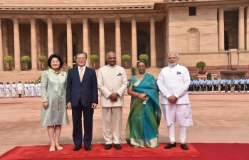 Photos of the State Visit of president Moon Jae-in to India