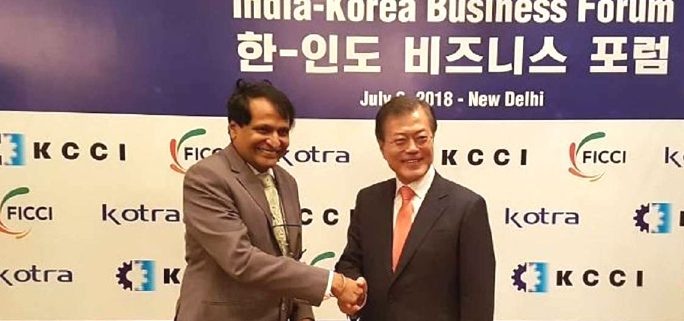 Commerce Minister Suresh Prabhu meeting with ROK President in India Korea Business Forum