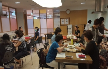 Cooking Class organized at Lotte Culture Center, Ilsan _ May 31, 2016