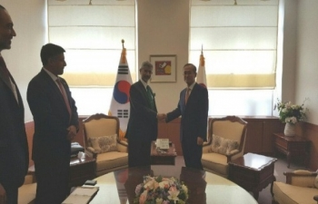 Foreign secretary Dr. S. Jaishankar with Vice-Foreign Minister Lim Sung Nam (May 17)