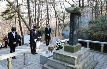 Visited the Colonel Unni Nayar Monument in Daegu to pay respects