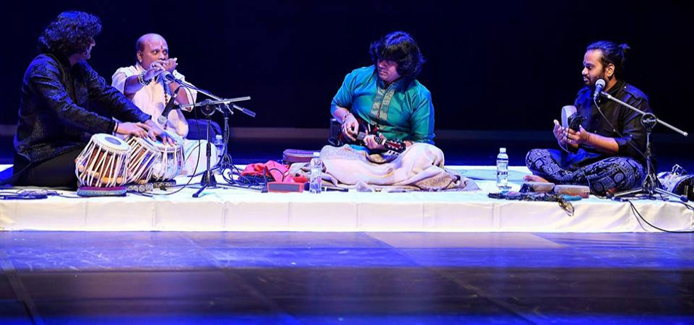 U Rajesh and his team enthralled the audience in Yonsei with the Carnatic Music