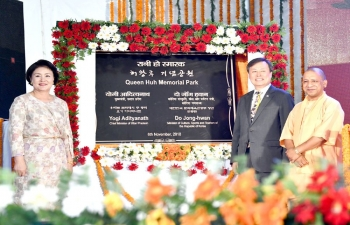 Visit of First Lady of RoK H.E Mrs Kim Jung-sook to India