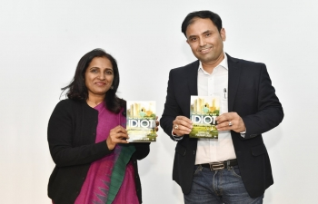 "Ambassador Sripriya Ranganathan and Author Surya Rai launched the book ""Non Resident Idiot"" jointly written by Surya Rai and Poonam Gaur, on 9th January, during the Pravasi Bharatiya Divas celebration at Swami Vivekanand Cultural Centre, Seoul."