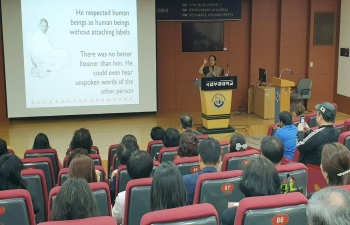 Gandhi Lecture series:  5. By Renowned Gandhian Expert, Ms. Shobhana Radhakrishnan at Bukyeong University