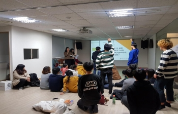 Visit of Jecheon Gandhi School to Indian Embassy and SVCC