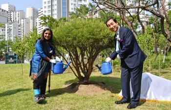 Inauguration of Korea- India Peace Park.