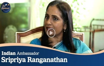 Special interview with Ambassador of India Sripriya Ranganathan in this week's episode of 'The Diplomat' on Arirang TV.