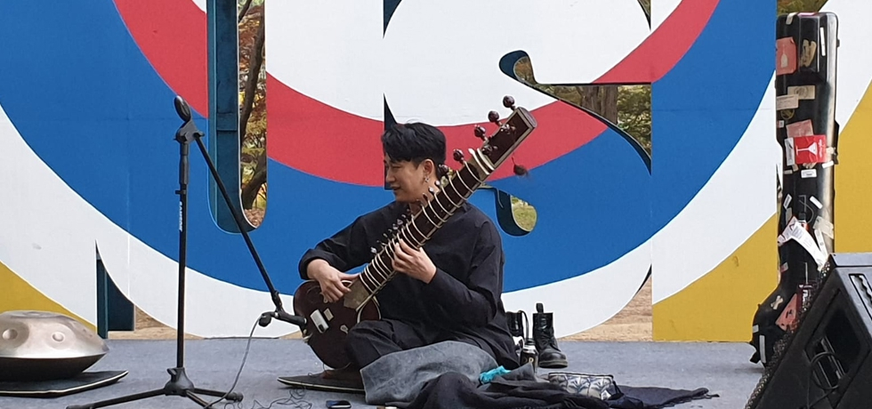 Sarang 2020 - Sitar performance at Nami Island by Mr. Hansaembawi