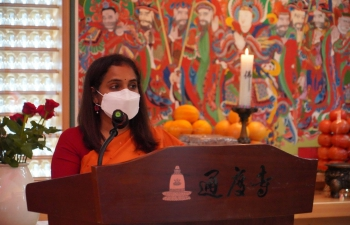 Visit of Ambassador Sripriya Ranganathan for the enshrining ceremony of Lord Buddha at Tongdo-sa Temple, Yangsan
