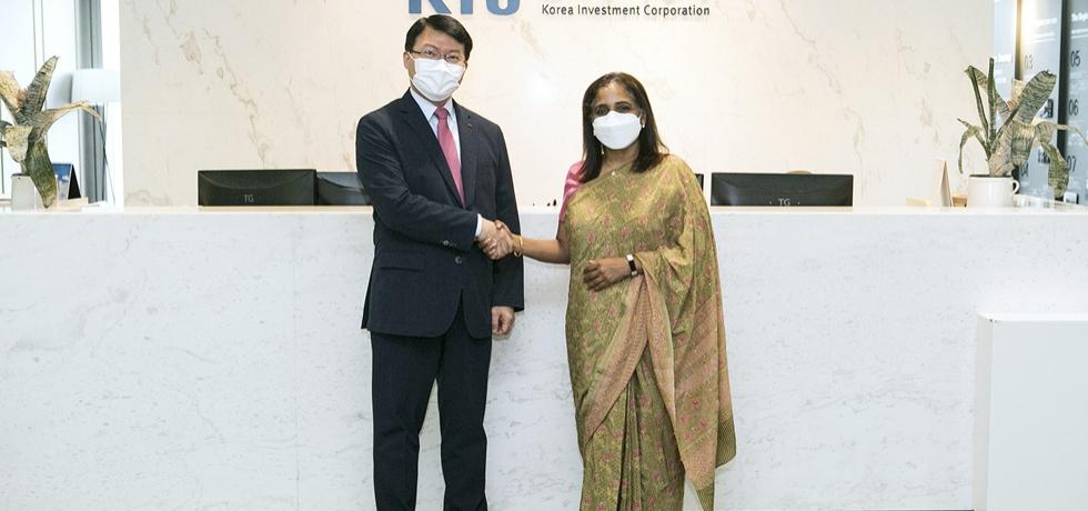 Ambassador Sripriya Ranganathan with Mr. Seoungho Jin, Chairman & CEO, Korea Investment Corporation