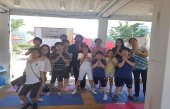 Yoga and Kathak Workshop at Bucheon International Film Festival