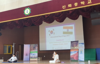 7th International Day of Yoga - Yoga for Youth @ Shinhwa Middle School